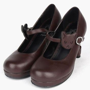 Vintage Round Toe Cat Shoes & Tail