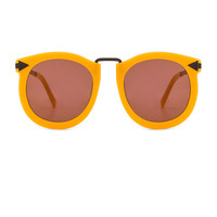 Karen Walker Super Lunar in Marigold & Brown