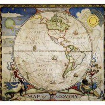 Map of Discovery - Western Hemisphere