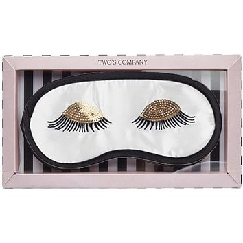 Sleeping Beauty Eye Mask / Sleep Mask in White