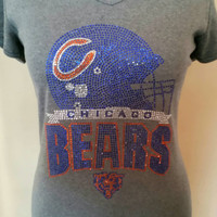CHicago Bears Football Rhinestone T-shirt