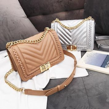 Crossbody Top-Handle Quilted Bag