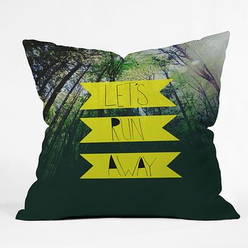 Leah Flores Lets Run Away IX Throw Pillow