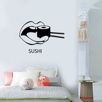 Wall Decal Sushi Food Japan Oriental Restaurant Vinyl Stickers Art Mural Unique Gift ig2574