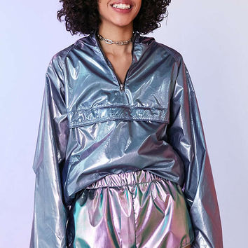 Silence + Noise Metallic Runner Short - Urban Outfitters