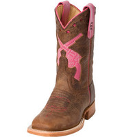 Anderson Bean Toast Bison-Pink Pistol Top Cowgirl Boots