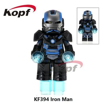 20Pcs KF394 Super Heroes Custom Armored Iron Man Suit War Machine Inspired Ironman Building Blocks Collection Toys for children