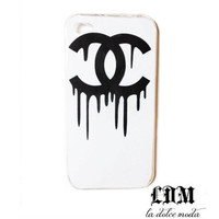 chanel CHANEL DRIP iPhone case iphone 4 iphone 4s iphone 5 trendy designer case hard plastic accessory