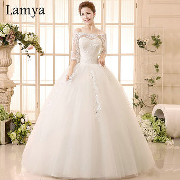 Princess Lace With Sleeve  Wedding Dress