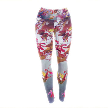 "Sylvia Cook ""Autumn"" Yoga Leggings"