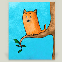Kitty up high Art Print by AnishaCreations on BoomBoomPrints