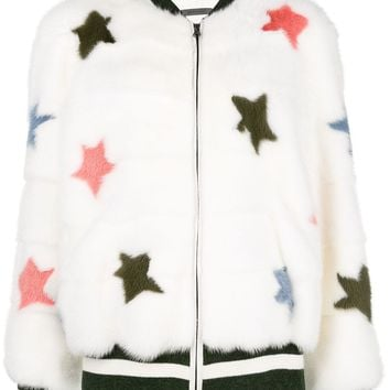 Simonetta Ravizza Star Detail Fur Jacket - Farfetch