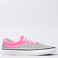The Two Tone Era Sneaker in Frost Gray and Neon Pink
