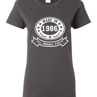 Made In 1986 With All Original Parts Great 28TH Birthday Celebration T Shirt Great Gift For 28TH Birthday Made In 1986