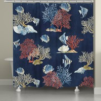 Indigo Ocean Shower Curtain