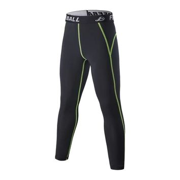 New Professional Running Compression Pants Sports Children Football Training Ropa Hombre Fit Trousers Leg Pants Tights