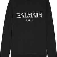 Balmain - Printed cotton-jersey sweatshirt