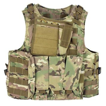 Military Tactical Vest Assault Airsoft Plate carrier Multicam Army Molle Mag Ammo Chest Paintball Body Armor Harness
