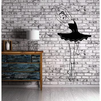Dance Ballet Ballroom Wall Stickers Vinyl Decal Concert Opera Art Mural Unique Gift (ig1272)