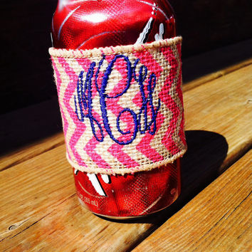 Personalized monogrammed 12 oz. can wraps