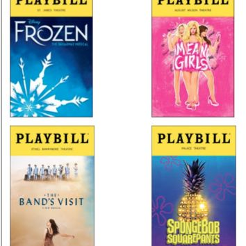 2018 Tony Nominated Best Musical Playbills - Set of 4