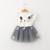 Choice of Adorable Girls Kitty or Fish Tutu Dresses