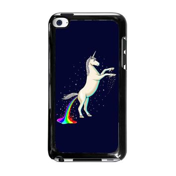 UNICORN POOPING RAINBOW iPod Touch 4 Case Cover