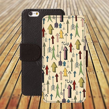 Cartoon arrow iphone 5/ 5s iphone 4/ 4s iPhone 6 6 Plus iphone 5C Wallet Case , iPhone 5 Case, Cover, Cases colorful pattern L033