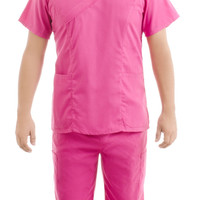 Pink Medical Scrub Uniform Set