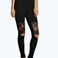 Cate Lace Insert Cut Out Knee Leggings