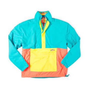 Winter Warrior | Chubbies Reversible Neon Aztec Windbreaker Fleece – Chubbies Shorts