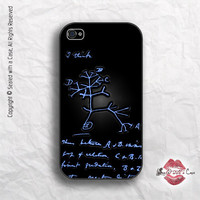 Darwin Evolution tree - original sketch - iPhone 4 Case, iPhone 4s Case and iPhone 5 case
