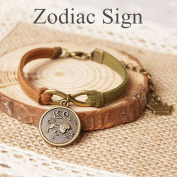 Vintage Retro Zodiac Sign Bracelet Aries/ Taurus/ Geminis/ Cancer/ Leo/ Virgo/ Libra/ Scorpio/ Sagittarius/ Capricorn/ Aquarius/ Pisces ?¡§with Thanksgiving&christmas Gift Box??= 1931844676