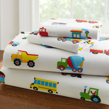 Olive Kids Trains, Planes, Trucks Twin Sheet Set - 43410