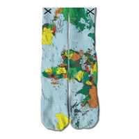 World Map Socks