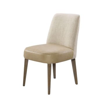 Floor Sample Torino Linen and Leather Chair