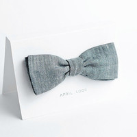 Classic mens bow tie - double sided