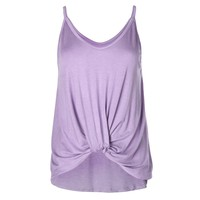Christine -  Women's Front Knot Spaghetti Strap Tank Top