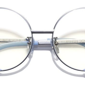 The Book Club - Surround the World 55mm Silver Lilac  / Screen Blue Light Clear +2.00 Lenses