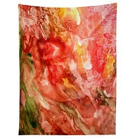 Rosie Brown Abstract Red Yupo Tapestry