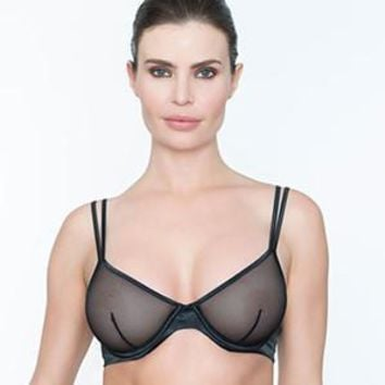 Sexy Sheer Demi Cup Wire Bra Addiction Glamour