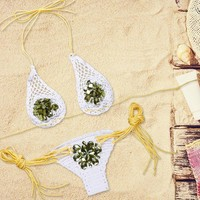Buy Charlotte Jeweled Crochet Bikini | YesStyle