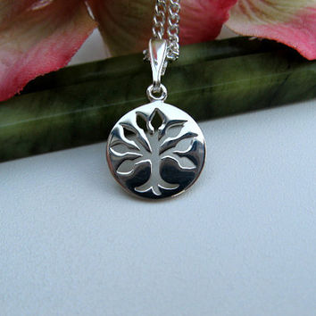 Tree of Life Necklace Sterling Silver Cut Out by ArtInspiredGifts