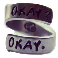 Okay? Okay. Cloud inside hand stamped aluminum spiral ring