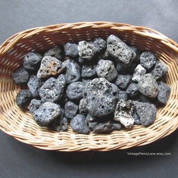 Bulk Lot, Volcanic Stones / Lava Rocks, Pebbles, Slag Glass Lake Ontario