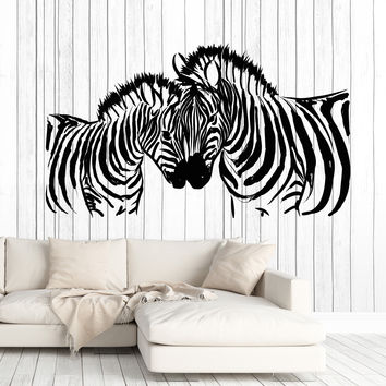 Large Wall Vinyl Decal African Wild Animals Zebra Home Interior Decor Unique Gift z4606