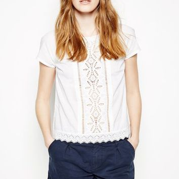 WENTWITTLY EMBROIDERED FRONT TEE