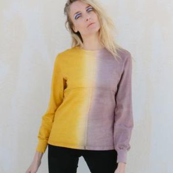Lapped Long Sleeved Tee, Two Tone