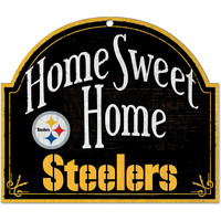 Pittsburgh Steelers Wood Sign - Arched Home