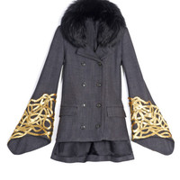 Silk and Wool Tweed Minaret Coat by Wes Gordon - Moda Operandi